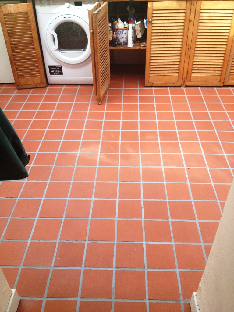 Quarry Tiles After Cleaning and Colouring