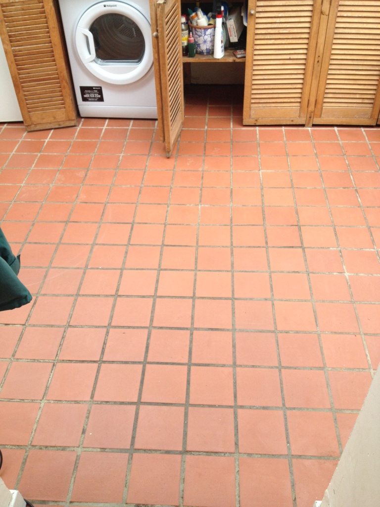 Quarry Tiles Before Cleaning and Colouring