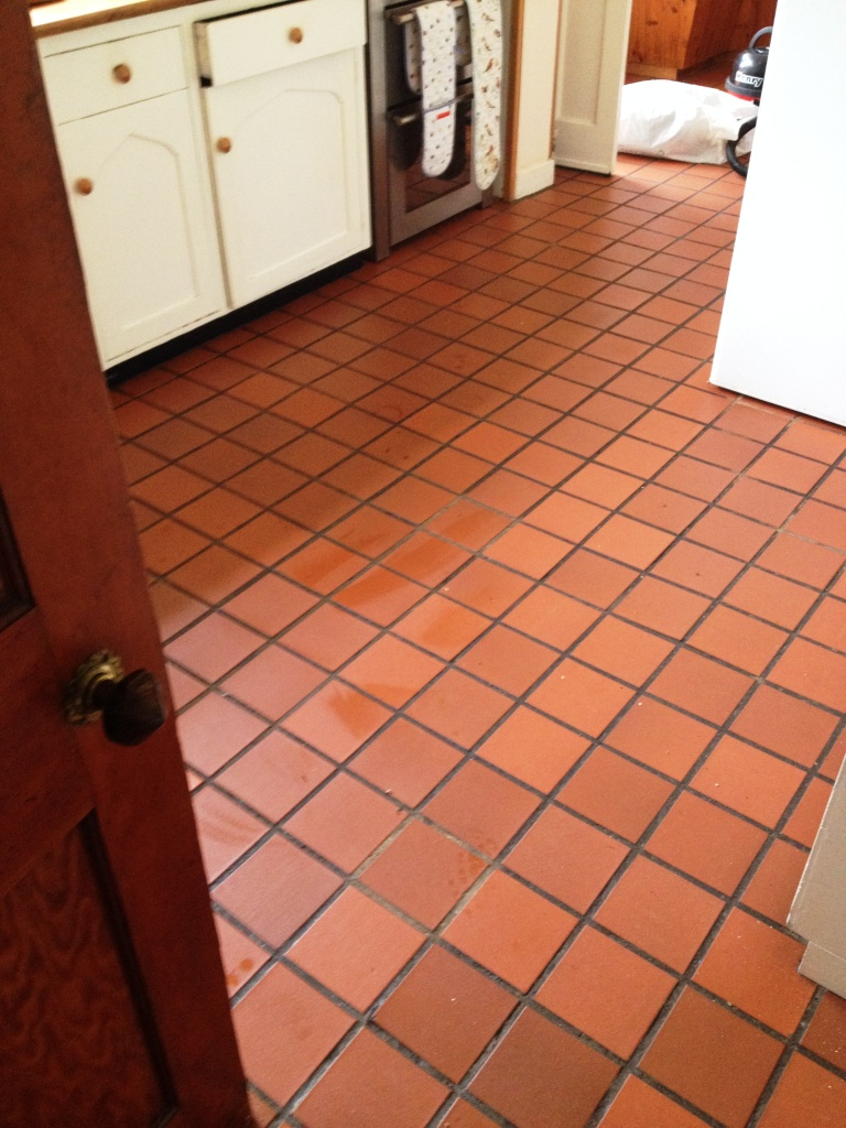 Leicestershire tile doctor your local tile stone and grout cleaning - South Buckinghamshire Tile Doctor Your Local Stone And Source Quarry Tiles Before Cleaning And Colouring
