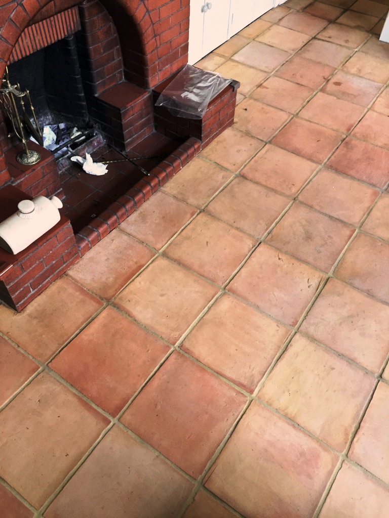 Terracotta Floor Tiles Edinburgh After Cleaning