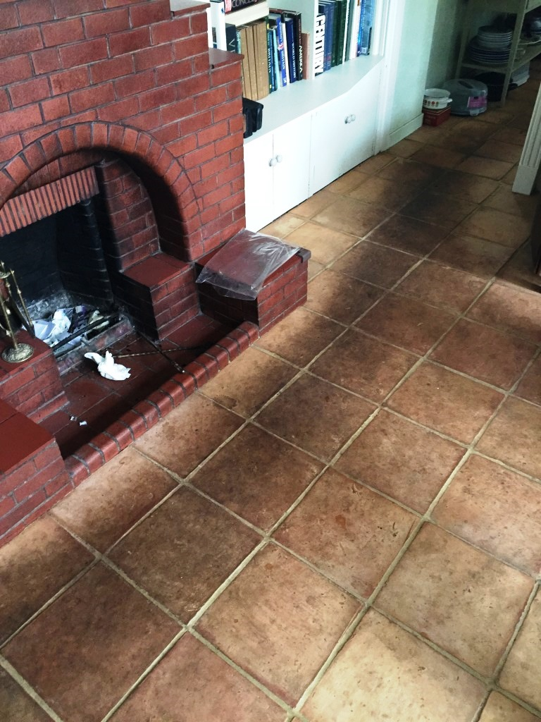 Terracotta Floor Tiles Edinburgh Before Cleaning