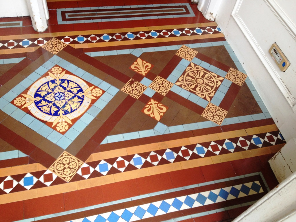 Victorian Tiles After Cleaning in Musselburgh