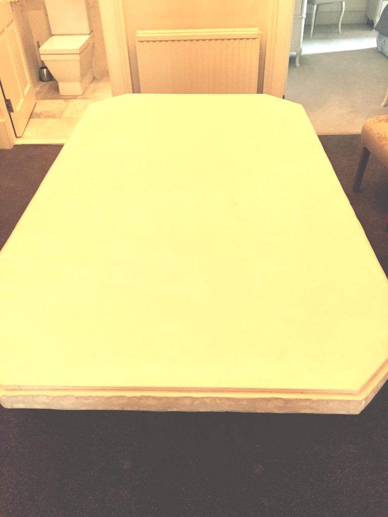 Limestone Table After Refinishing Edinburgh City