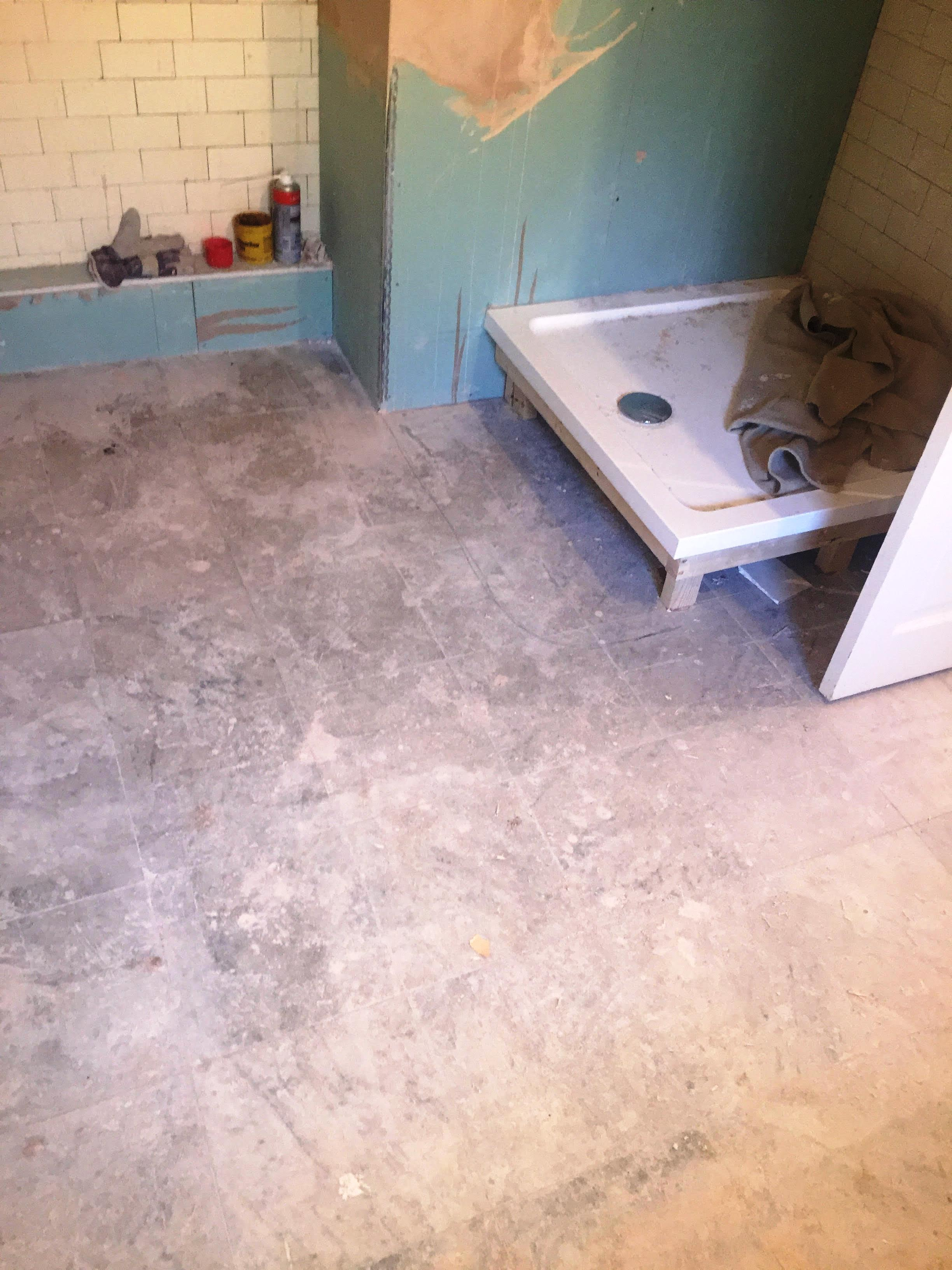 Marble Tiled Bathroom Floor Before Restoration Walkerburn ...