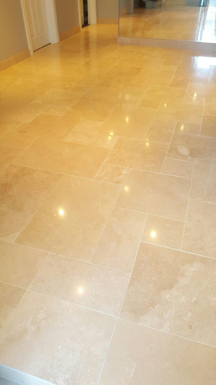 Travertine Floor After Polishing Ayrshire