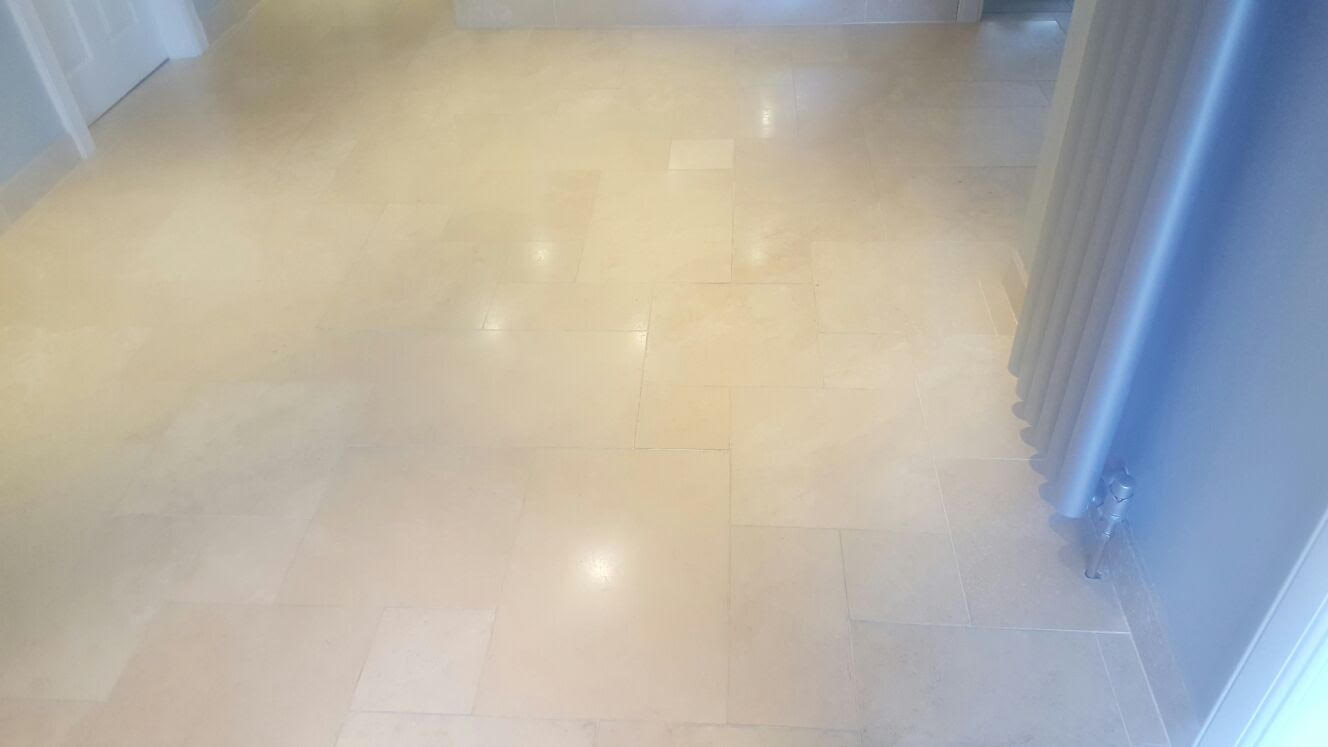 Travertine Floor Before Polishing Ayrshire