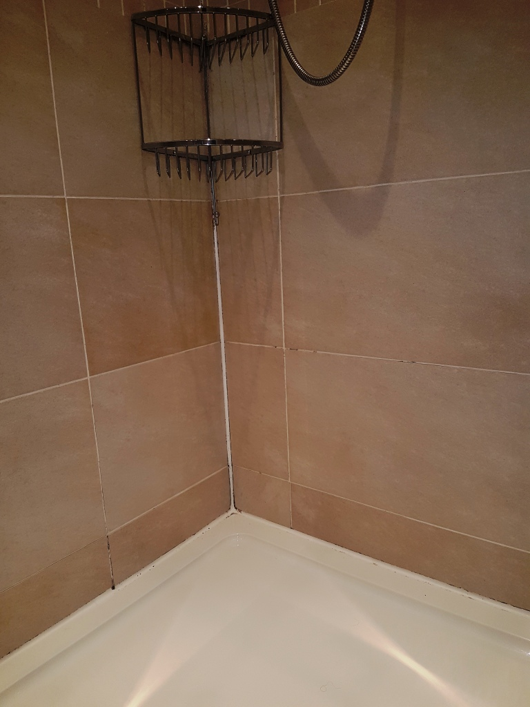 Ceramic Shower Cubicle Before Cleaning Edinburgh