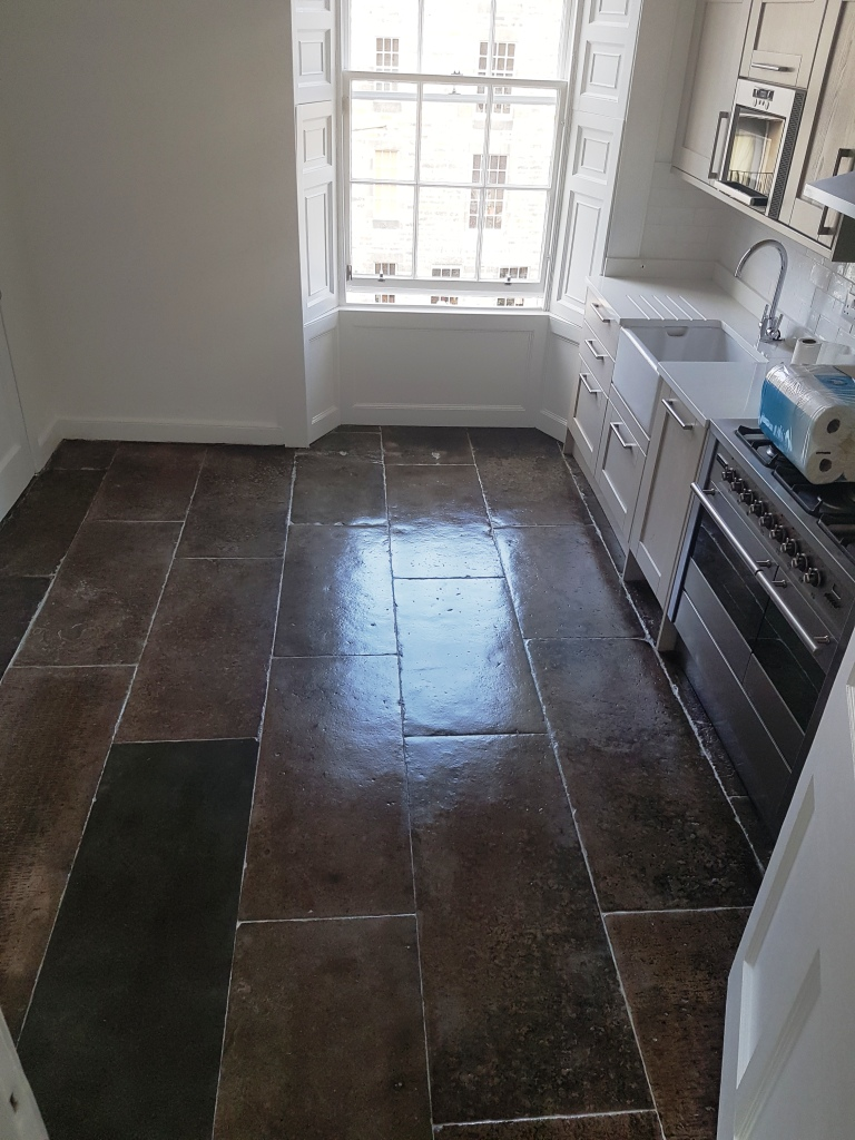 Flagstone Kitchen Floor Edinburgh Completed