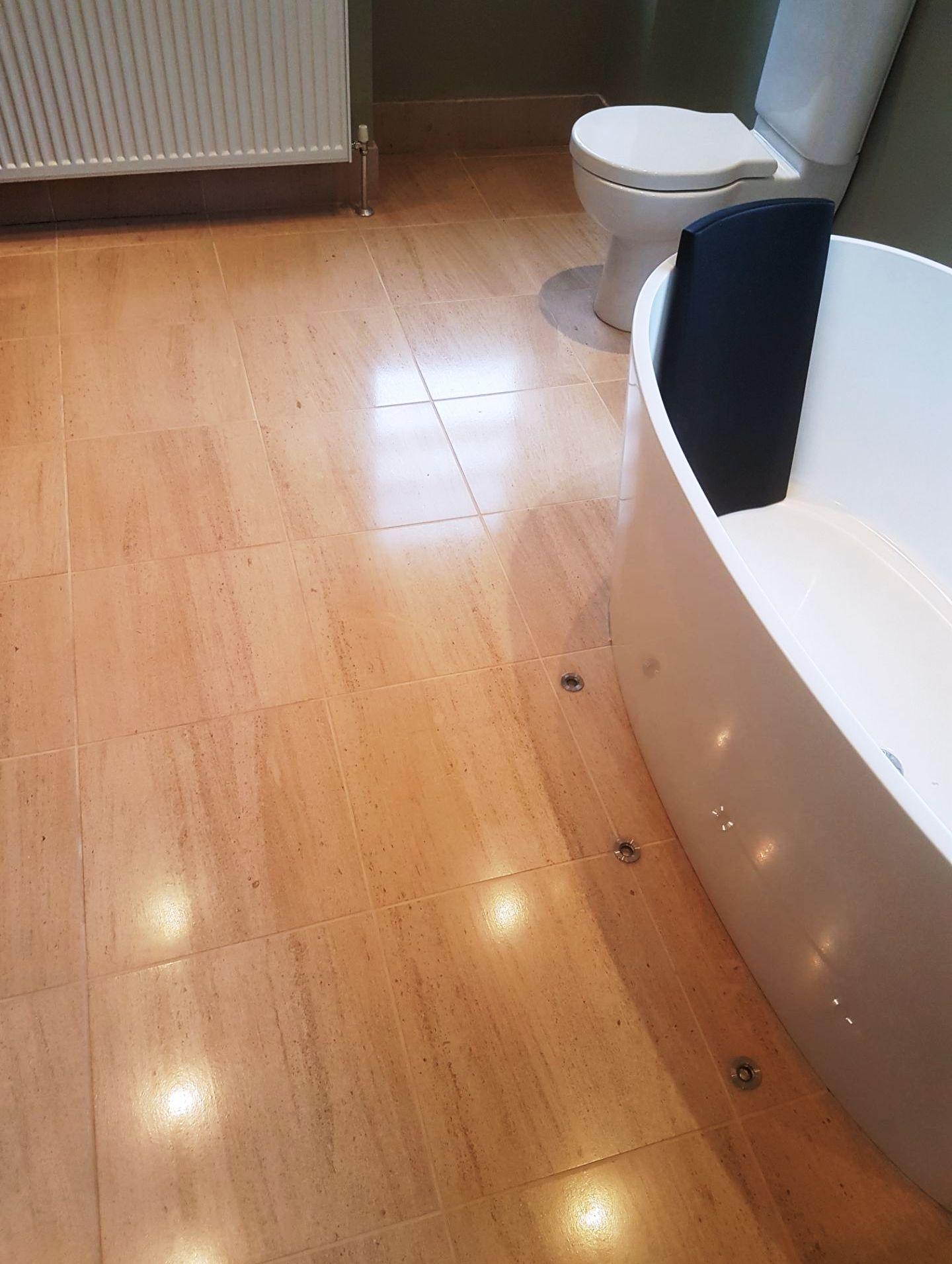 Limestone Bathroom Floor Merchiston after
