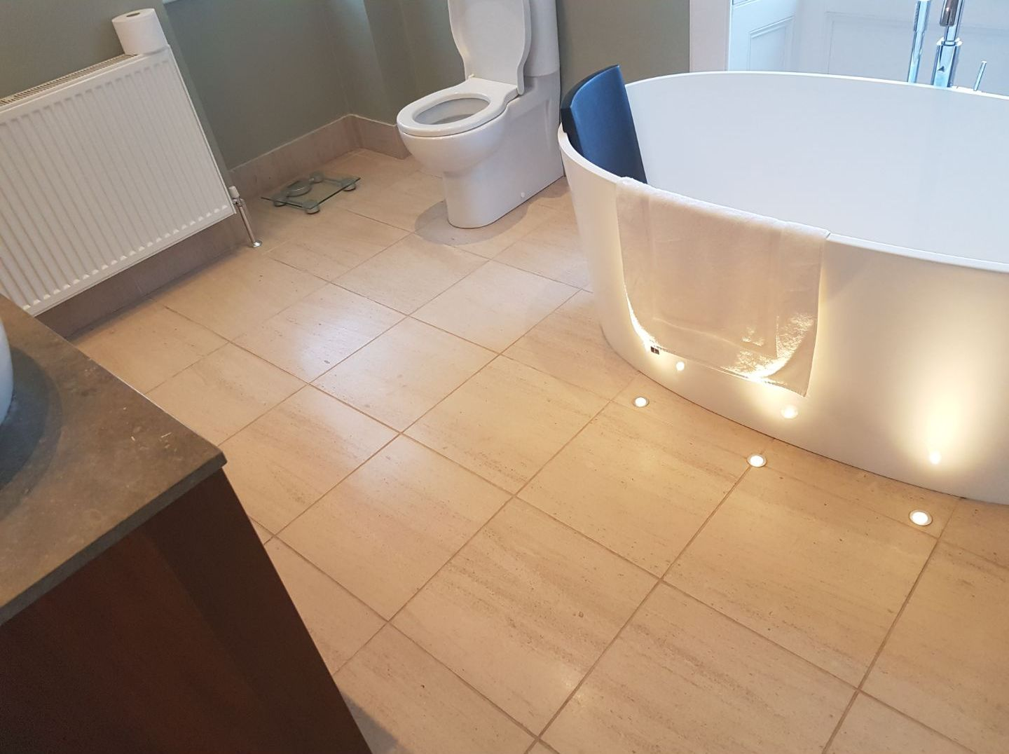 Limestone Bathroom Floor Merchiston before