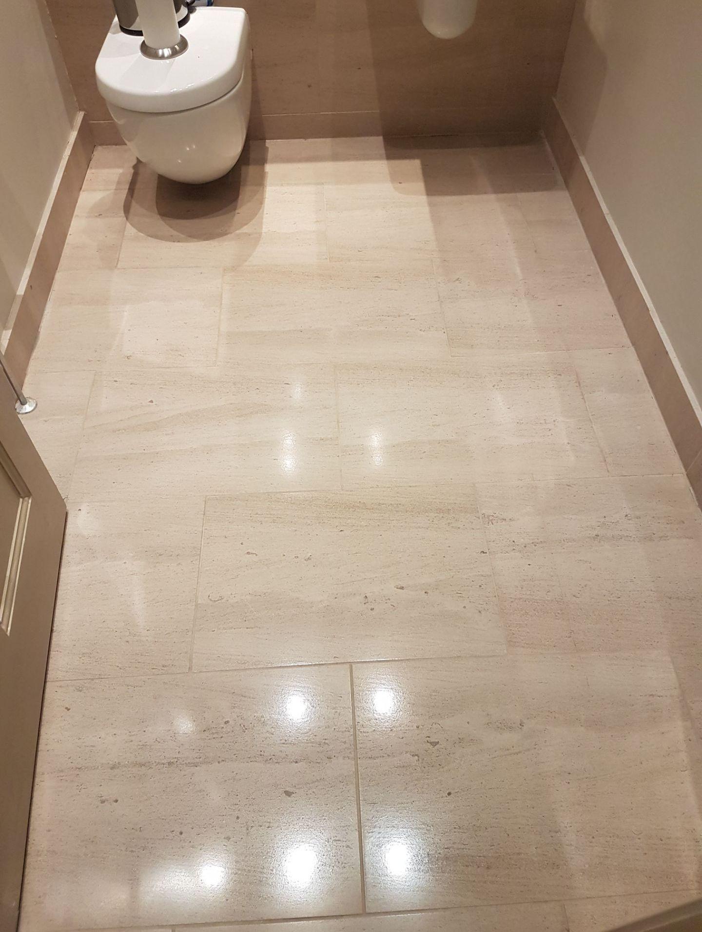 Limestone downstairs toilet Floor Merchiston after