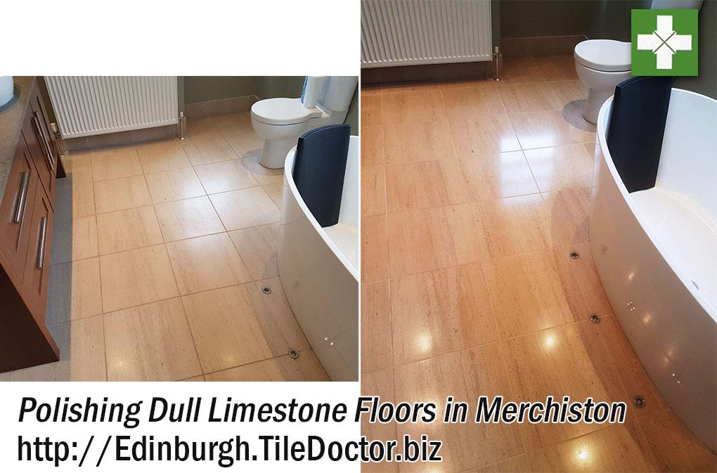Polishing Dull Limestone Floor Tiles in Merchiston