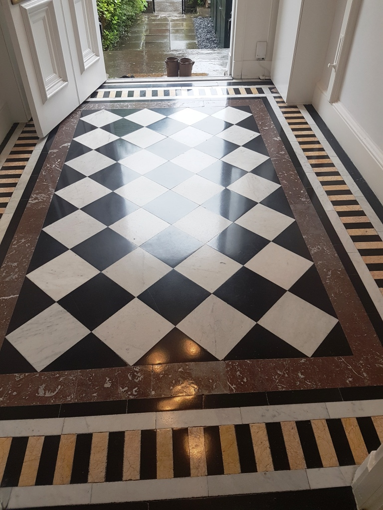 Polished Marble Vestibule After Cleaning Edinburgh