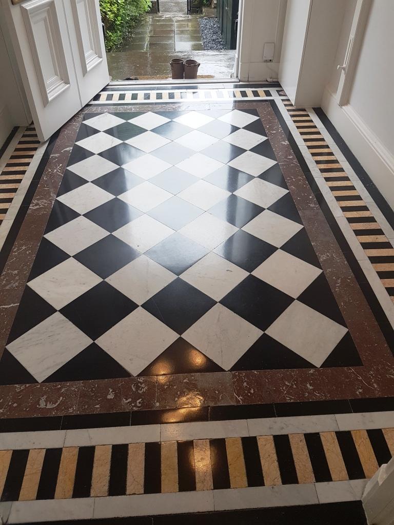 Polished Marble Vestibule After Cleaning Edinburgh