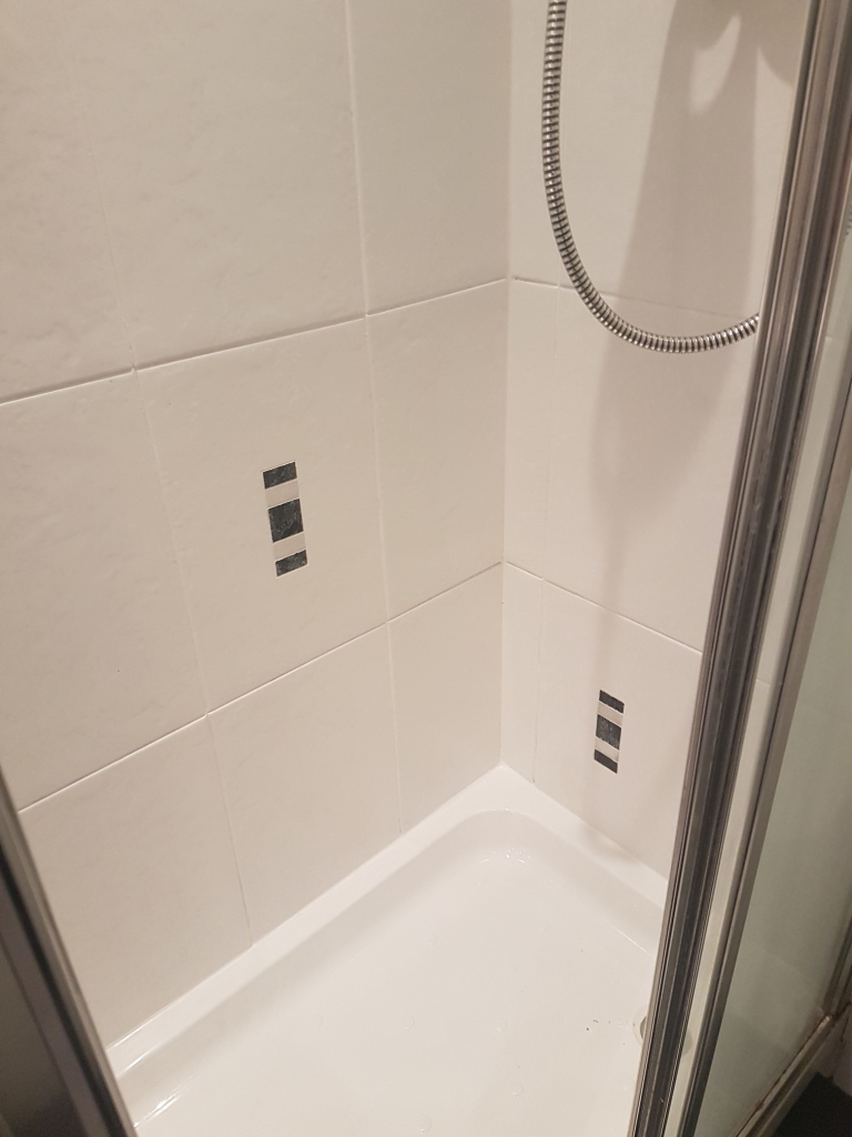 Shower Grout After Restoration in Edinburgh