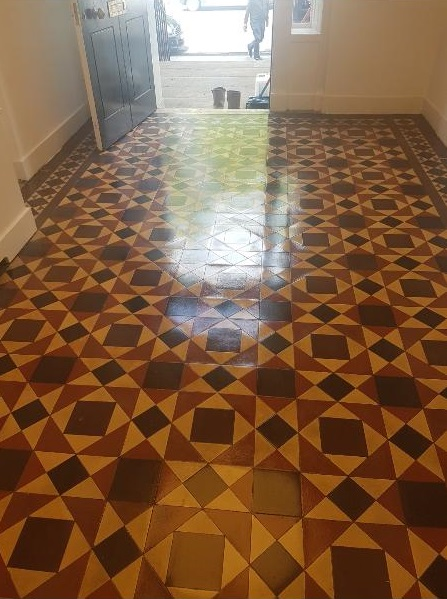 Victorian Tiled Floor After Cleaning Postcode Lottery HQ Edinburgh