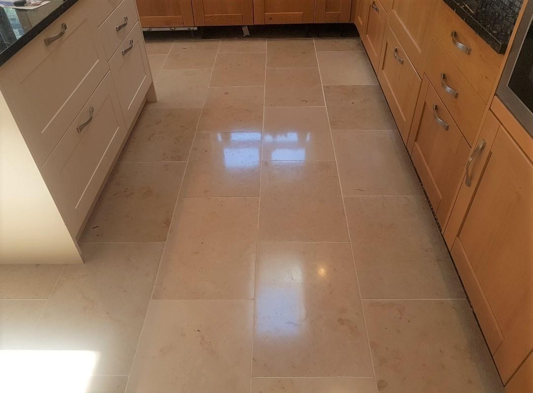 Travertine Floor After Renovation Edinburgh