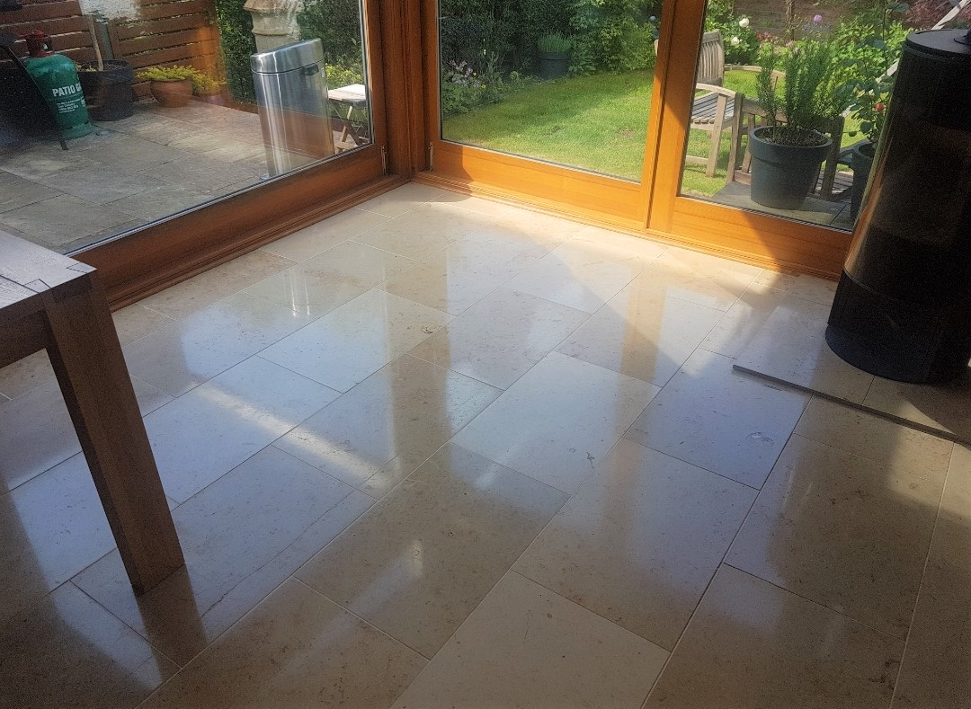 Travertine Floor After Renovation Edinburgh