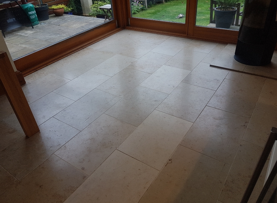 Travertine Floor Before Renovation Edinburgh