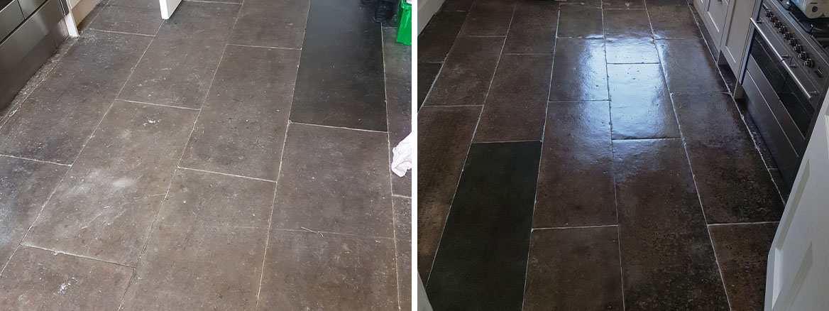 Flagstone Tiles Rejuvenated at Home of International Footballer in Edinburgh