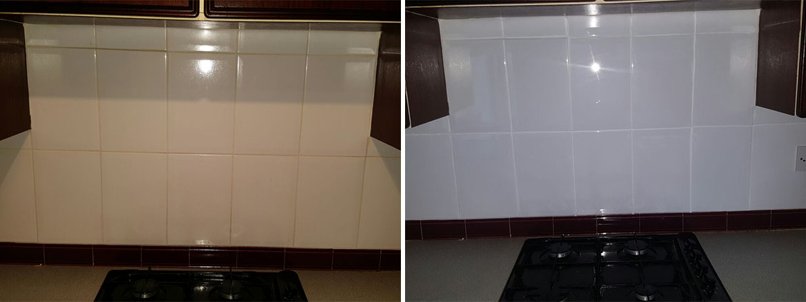 Kitchen Wall Tile Before and After Refresh in Edinburgh