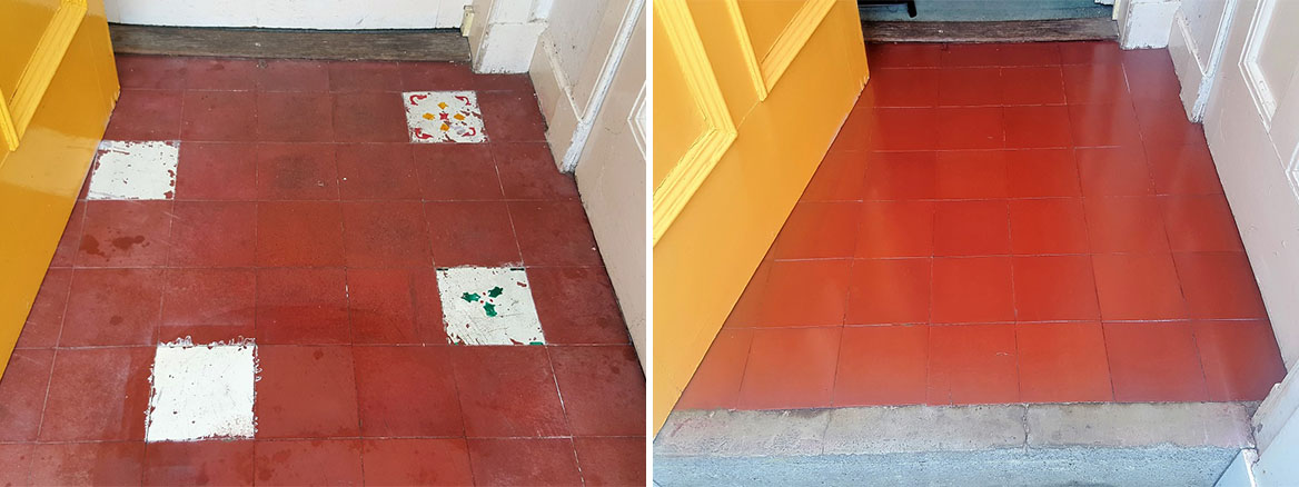 Restoring an Old Quarry Tiled Porch Floor in Edinburgh West End