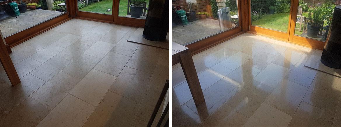 Travertine Floor Before and After Renovation Edinburgh