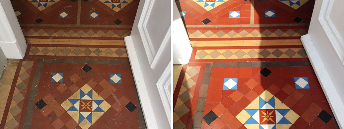 Cleaning Victorian Hallway Tiles in Whitburn