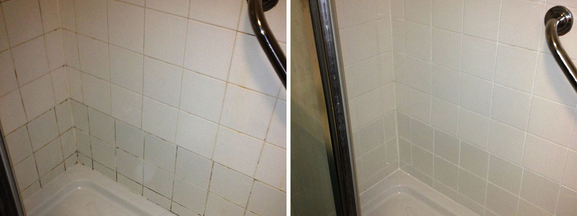 Shower renovation Before and After